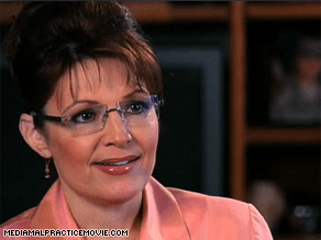 Palin says in a new documentary that the media set out to destroy her.