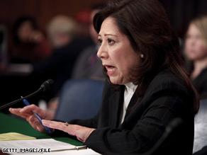 Hilda Solis was recently confirmed as secretary of labor.