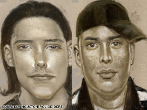 Composite sketches of two suspects wanted in the fatal shooting of a man at 6724 Avenue V on Dec. 19, 2008.