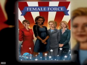 Alaska Gov. Sarah Palin and Secretary of State Hillary Clinton are political power players immortalized in the Female Force comic book series.