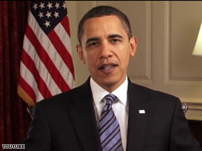 President Obama is asking supporters to canvass for the budget in an online video.