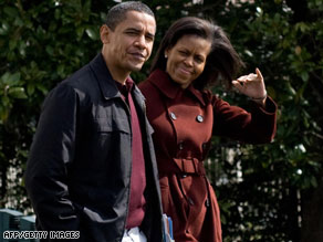 President Obama and first lady Michelle Obama leave for Camp David on Saturday.
