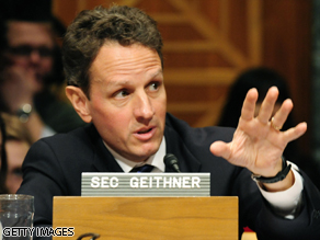 Treasury Secretary Timothy Geithner is expected back on Capitol Hill today.