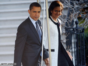 The president and first lady departed for London Tuesday morning.