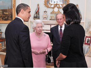 President Obama And The First Lady Meet The Queen of England.