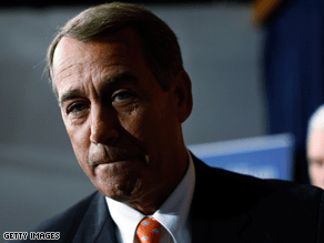 Boehner took time Thursday to critique reporters' hair styles.