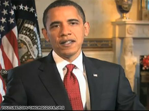 In a recent video, the president makes a personal pitch in support of Chicago's bid to host the 2016 Summer Olympics.