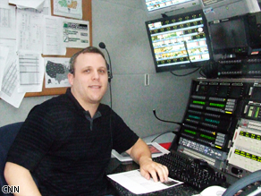 Eric Brodsky, Technical Production Manager, manages all the shots coming into our control room in the morning.