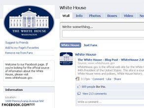The White House now has a page on the popular social networking site Facebook.