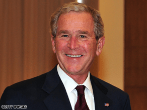 Bush raised $100 million for his library, Time Magazine reports.