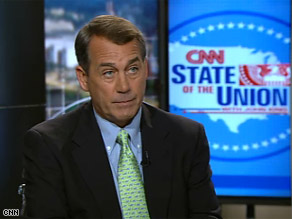 The president has a tough job to do, House Minority Leader John Boehner said Sunday on CNN's State of the Union.