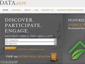 The Obama administration launched data.gov Thursday.