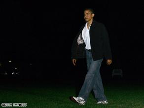 President Obama returned from Camp David on Sunday night.