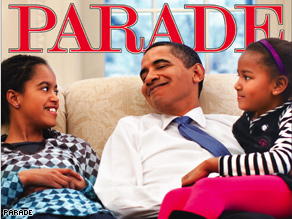 """'If I could be anything, I'd be a good father,"""" says Obama in this week's Parade."""