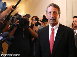 A new CNN poll reveals that 54 percent of Americans believe S.C. Gov. Mark Sanford should resign.