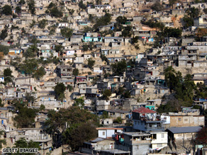A 2006 picture of housing conditions in Port-Au-Prince, Haiti, the poorest country in the western hemisphere.