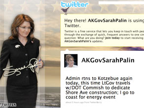 Sarah Palin tweeted Friday that her new, personal twitter account would be established later this month.