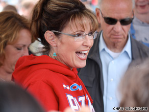 Gov. Palin greeted supporters at an event in Wasila, Alaska Friday as she winds down her tenure as governor.