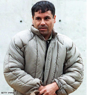 A 1993 photo of Joaquin Guzman Loera, aka El Chapo, at La Palma prison in Almoloya of Juarez.