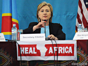 Secretary of State Clinton is overseas visiting several countries in Africa.