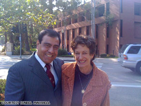 Dr. Izzeldin Abuelaish with the author, Isabel Maxwell, taken at UCLA in April earlier this year.