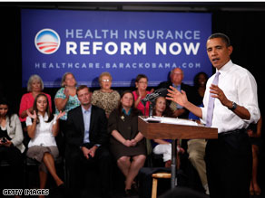 The CNN poll suggests that Americans are split over what they've heard about President Barack Obama's proposals to reform health care, with 48 percent in favor of his plans and 51 percent opposed.