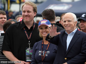 Curt Schilling stumped for John McCain during his 2008 presidential campaign.