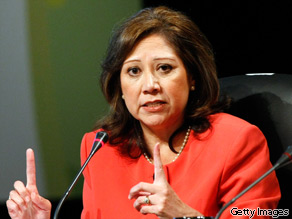 Department of Labor Secretary Hilda Solis urges the unemployed not to become discouraged.
