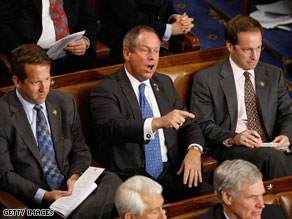 Rep. Joe Wilson heckled President Obama during his speech on health care reform.