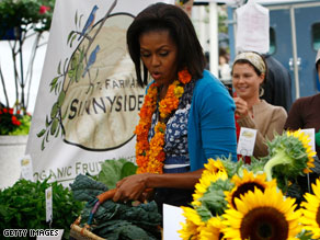 Michelle Obama is continuing her efforts to make healthy food choices a priority amongst Americans.