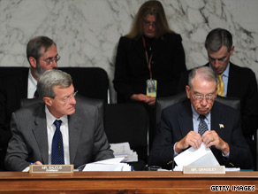 Republican Sen. Charles Grassley, right, asked the CBO to analyze a proposal by Democratic Sen. Max Baucus, left, as well as health care reform legislation drafted in the House of Representatives.