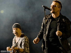 U2 performed outside Washington, DC Tuesday night.