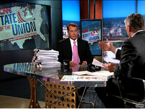 Last Sunday, House Minority Leader John Boehner brought a copy of the nearly 2000-page House bill crafted by Democrats to his interview on CNN's State of the Union.