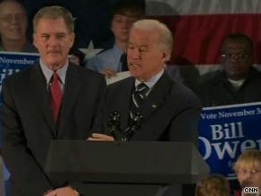 Biden stumped for Owens Monday.