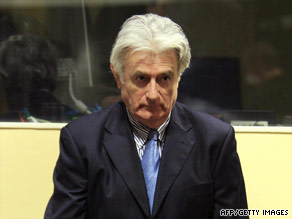 How should the war crimes court handle Radovan Karadzic's trial?