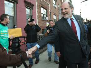 New Jersey Gov. Jon Corzine, a Democrat, lost in a race dominated by local issues.