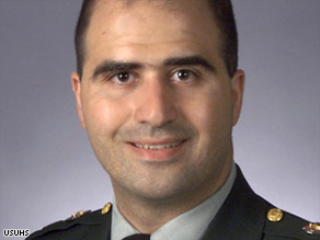 Maj. Nidal Malik Hasan, the suspect in last week's Fort Hood mass shooting.
