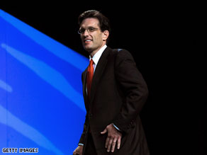 Rep. Eric Cantor, R.-Virginia, is the House Minority Whip.