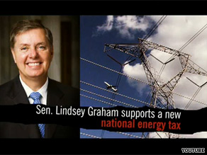 Lindsey Graham is taking heat in a new ad.