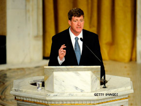 Should the Catholic Church deny communion to public figures, like Rep. Patrick Kennedy, who support abortion?