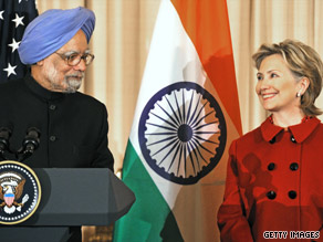 Secretary of State Clinton spoke Tuesday about the special relationship between India and the United States.