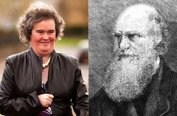 What links Susan Boyle to Charles Darwin?