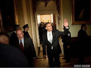 President Obama came to Capitol Hill Sunday to meet with Senate Democrats.