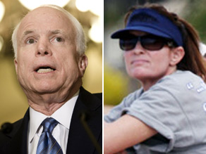 McCain says he's not offended his former running mate blacked out his name for her visor.