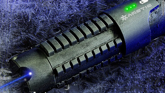 "Lucasfilm Ltd. says this handheld laser is too similar to the famous lightsabers from the ""Star Wars"" series."
