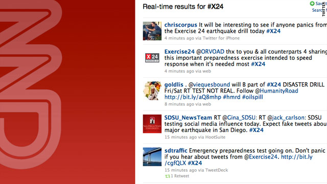 Fake earthquake disaster drill tests on Facebook & Twitter