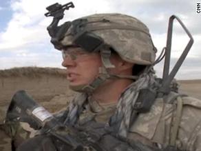 U.S. Army Cpt. Brandon Anderson on patrol in Afghanistan