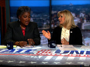 'Liz, are you looking for a job?,' Democratic strategist Donna Brazile teased Sunday.
