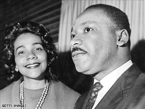 Coretta Scott King and her husband Martin Luther King, Jr.