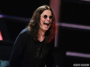 Ozzy Osbourne performs at the 25th anniversary for the Rock and Roll Hall of Fame.